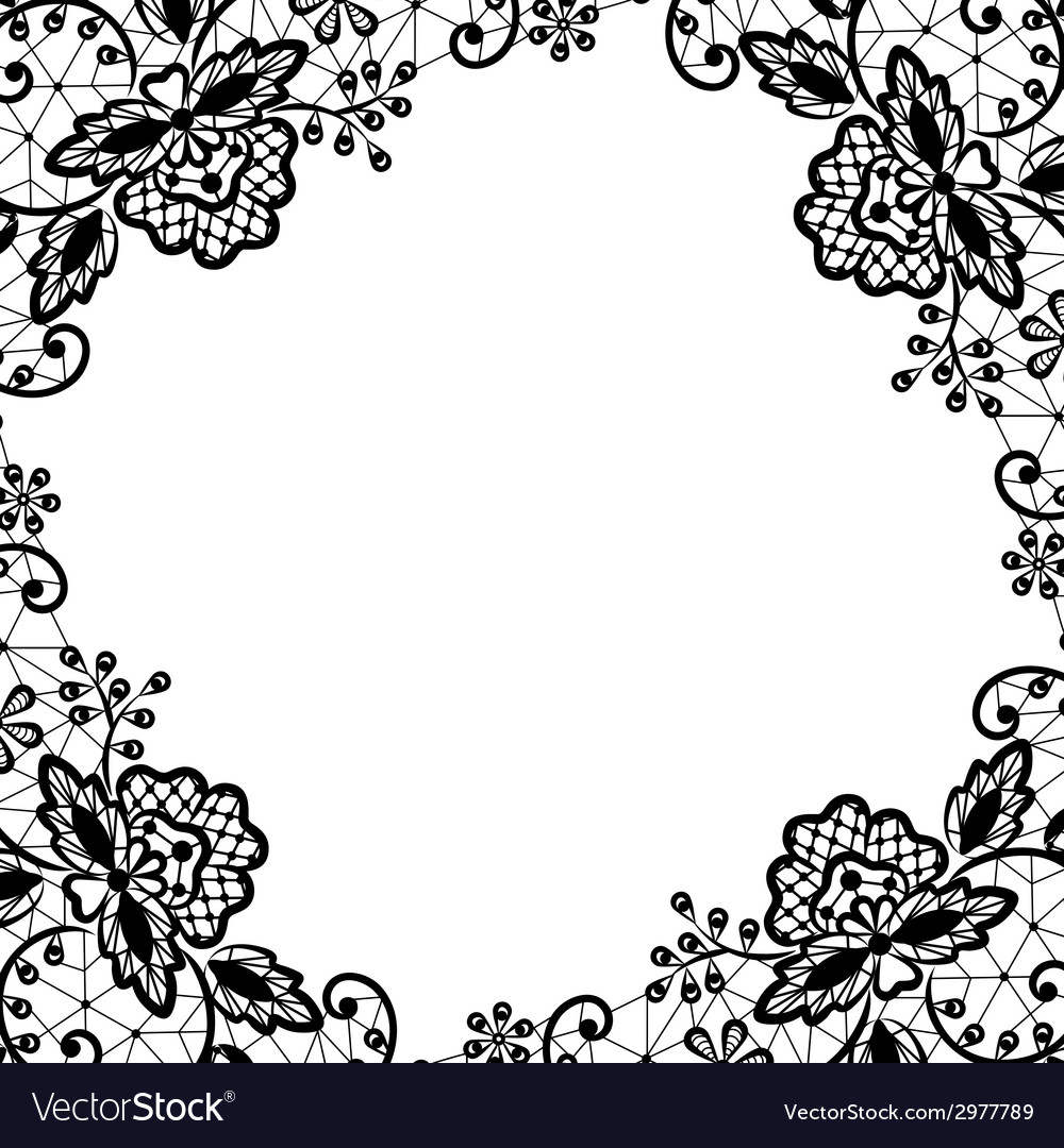 Lace frame on white background vector | Price: 1 Credit (USD $1)