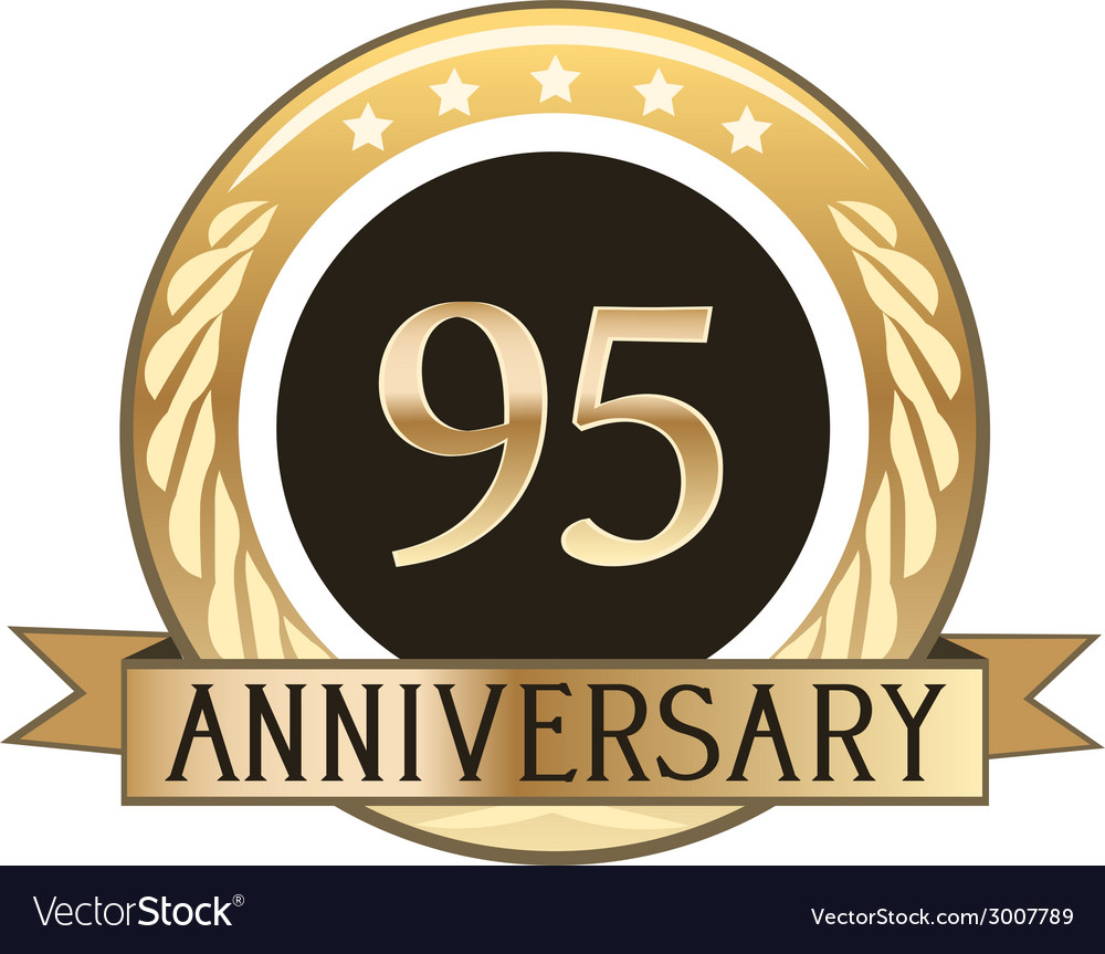 Ninety five year anniversary badge vector | Price: 1 Credit (USD $1)