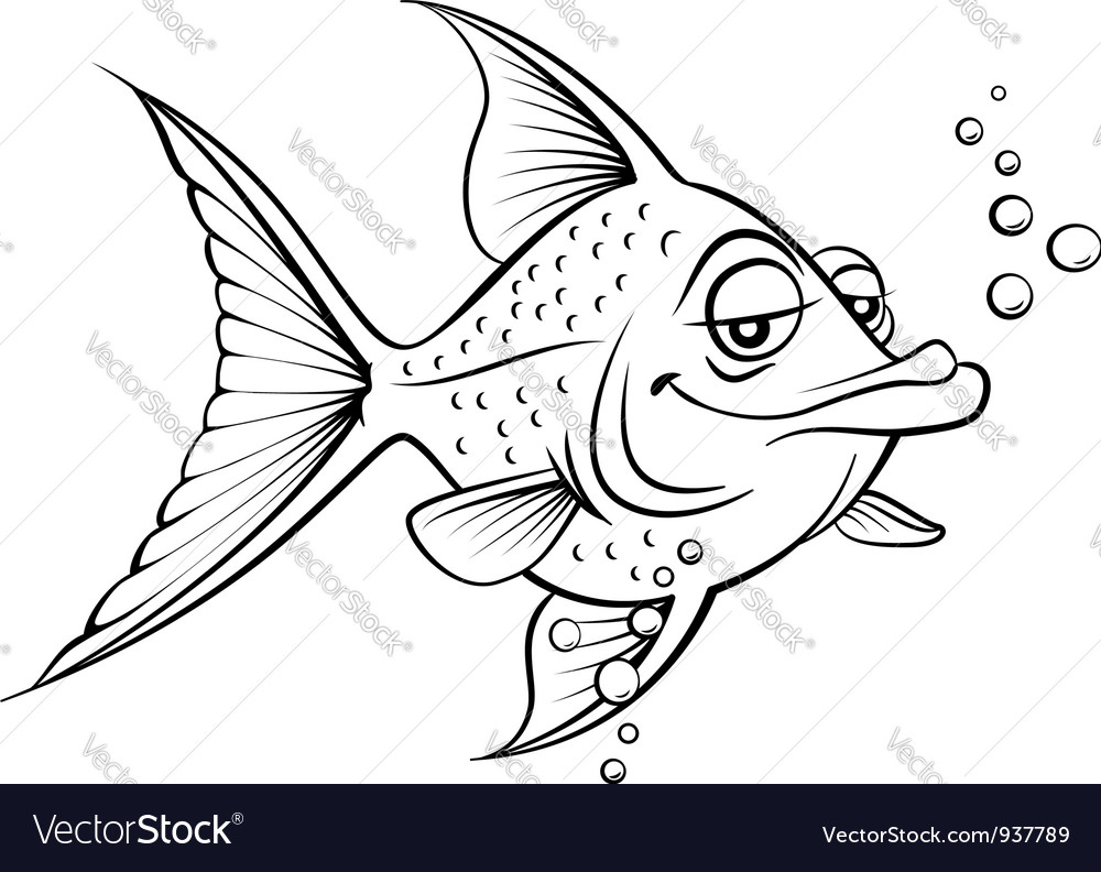 Painted fish vector | Price: 1 Credit (USD $1)