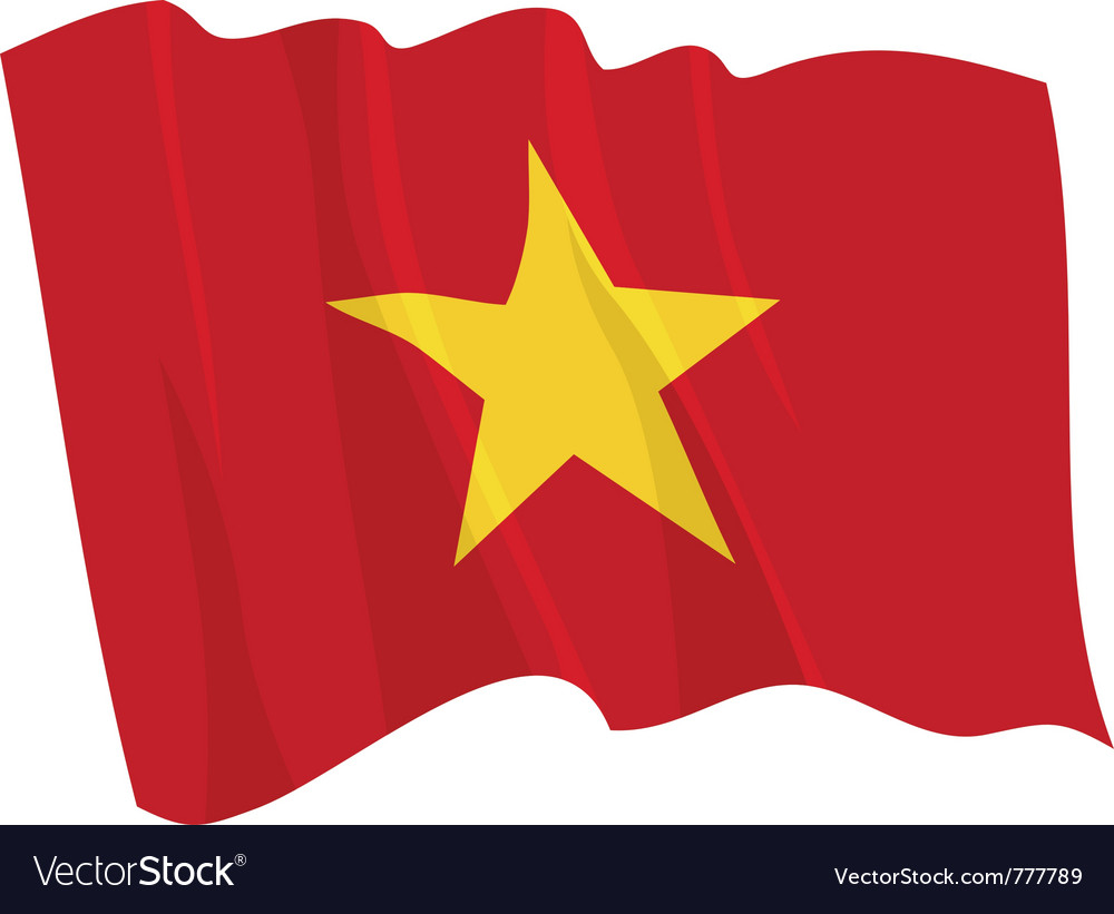 Political waving flag of vietnam vector | Price: 1 Credit (USD $1)