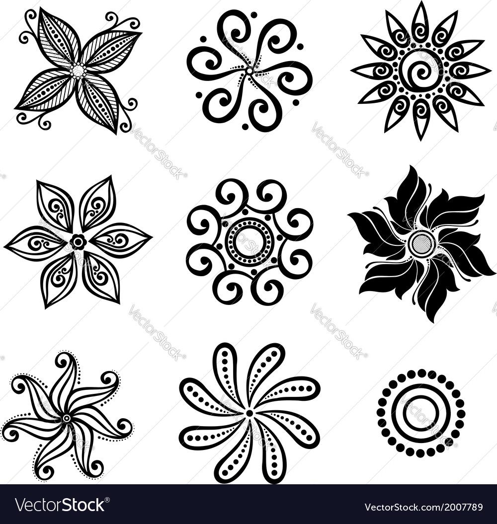 Set deco small circles vector | Price: 1 Credit (USD $1)