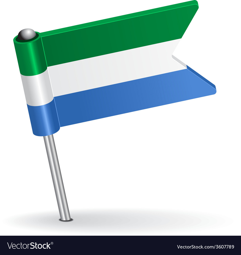 Sierra leone pin icon flag vector | Price: 1 Credit (USD $1)