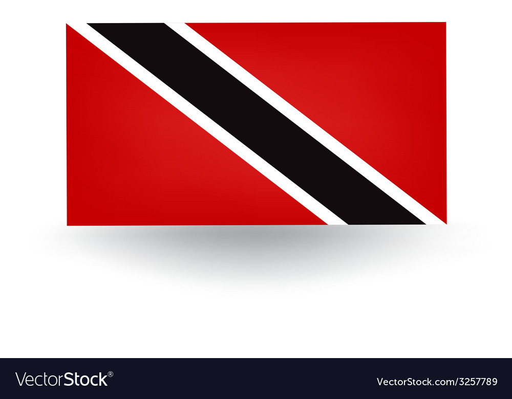 Trinidad and tobago flag vector | Price: 1 Credit (USD $1)