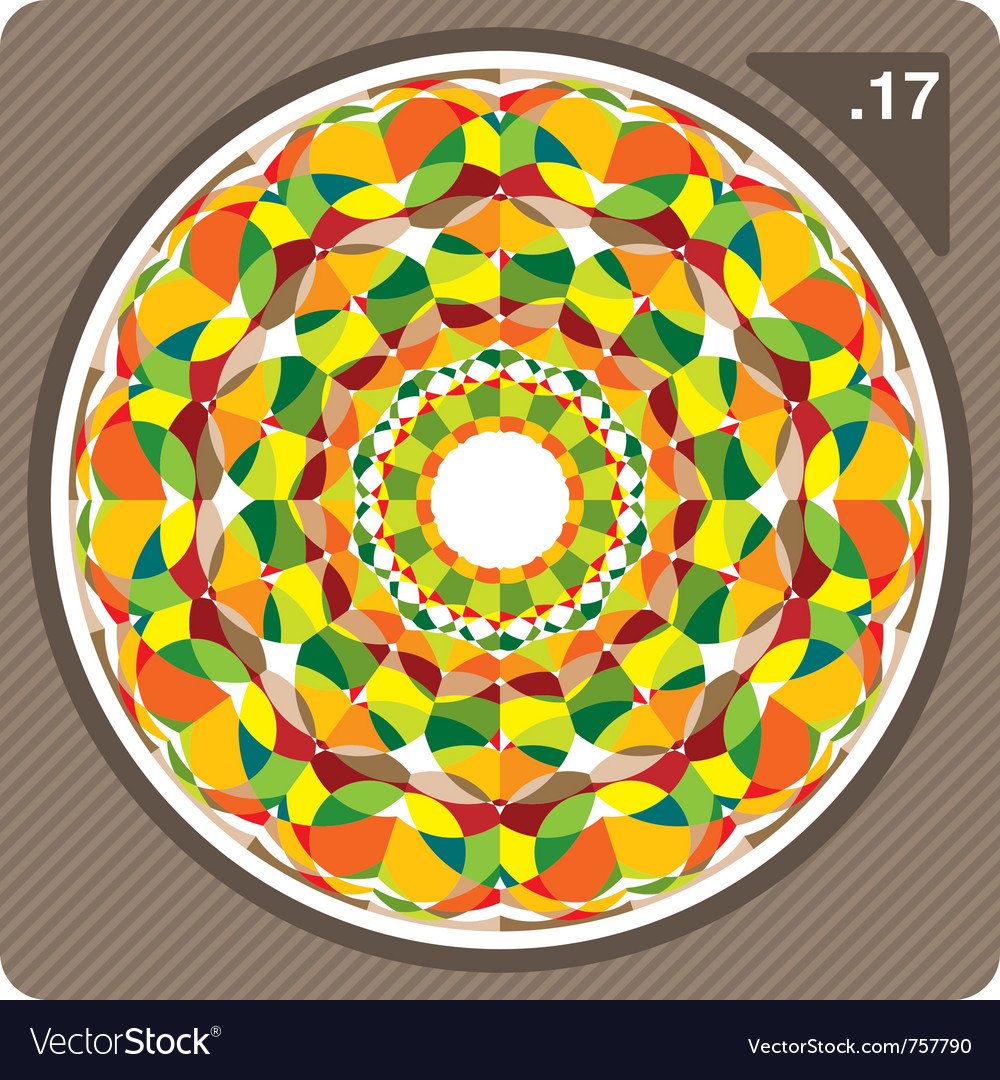 Abstract circular decorative ornament vector | Price: 1 Credit (USD $1)