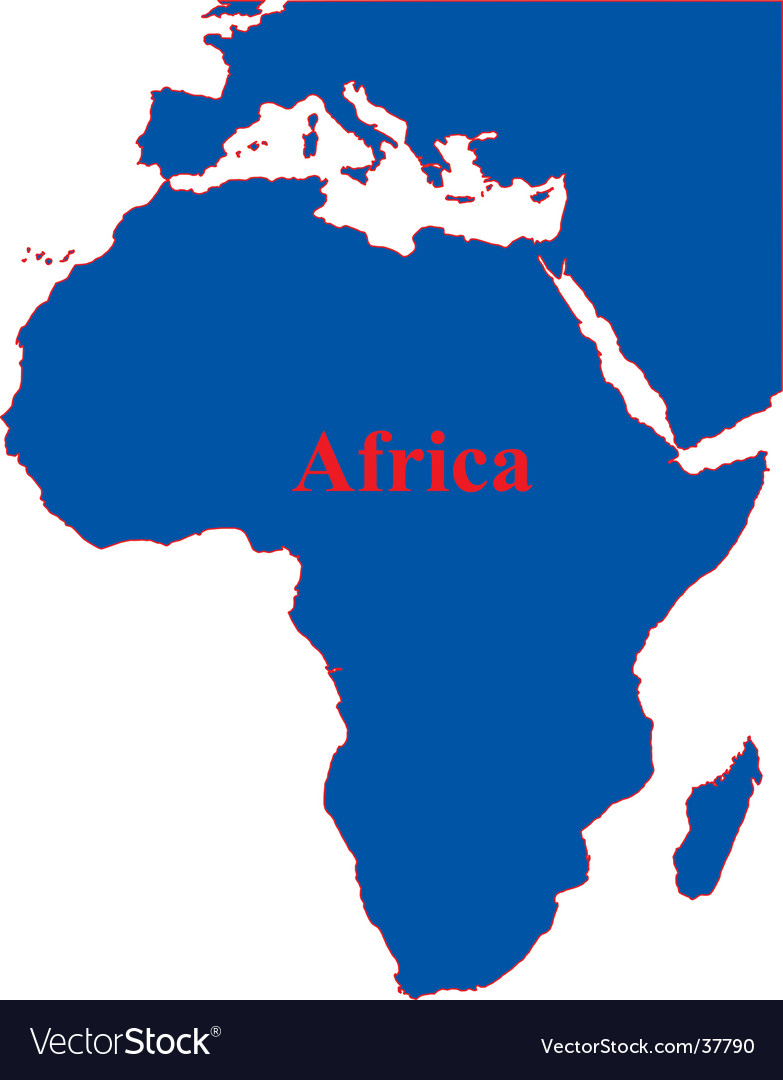 African continent vector | Price: 1 Credit (USD $1)