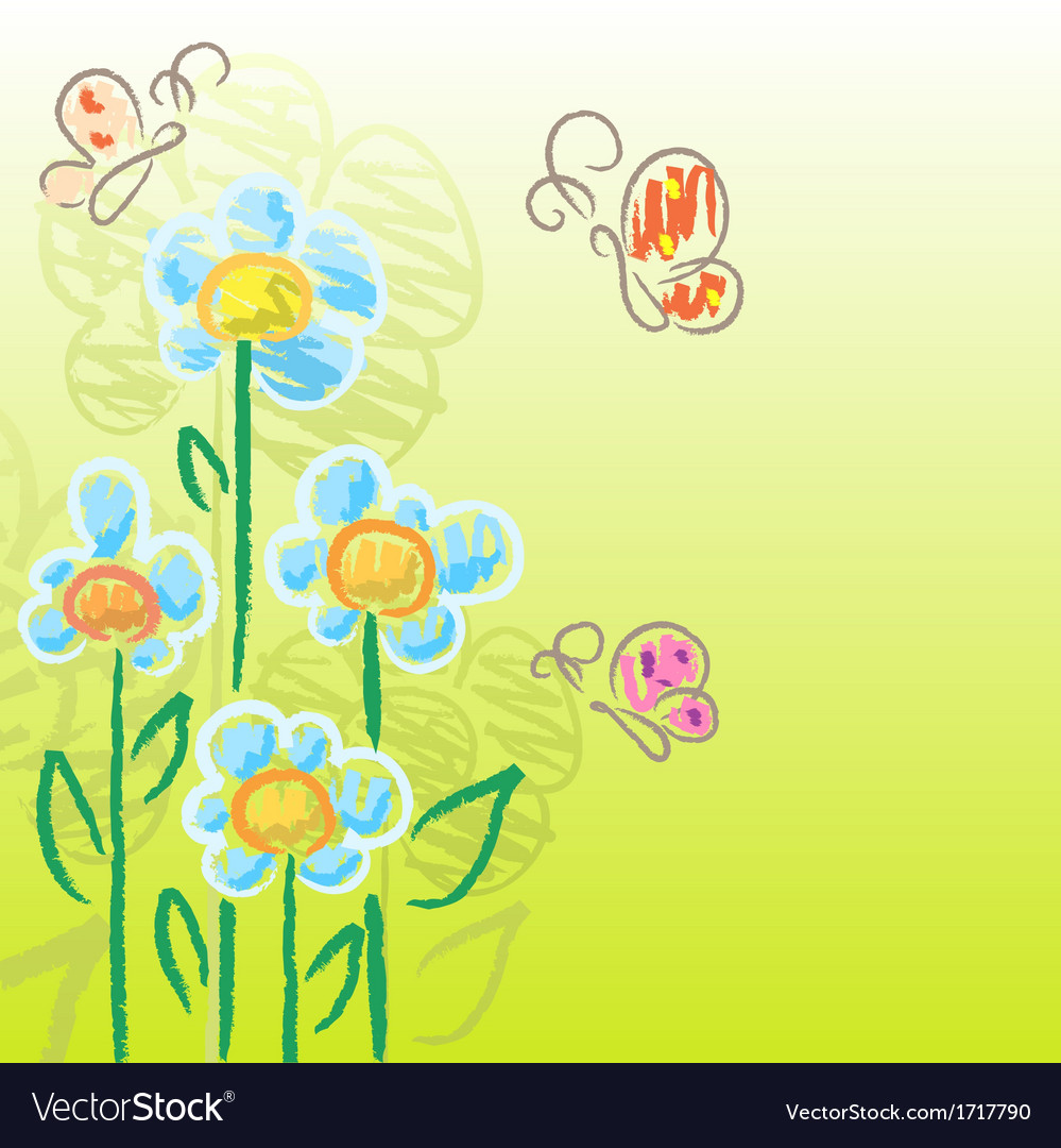 Charcoal flowers vector | Price: 1 Credit (USD $1)