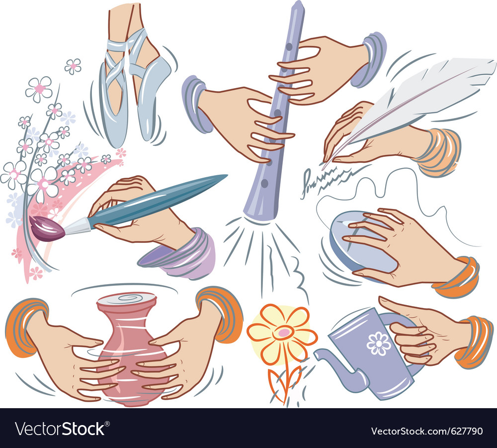 Creative hands vector | Price: 1 Credit (USD $1)