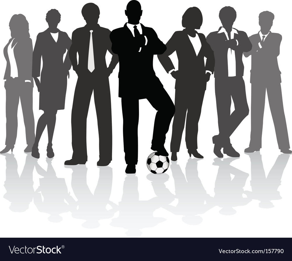 Football business team vector | Price: 1 Credit (USD $1)