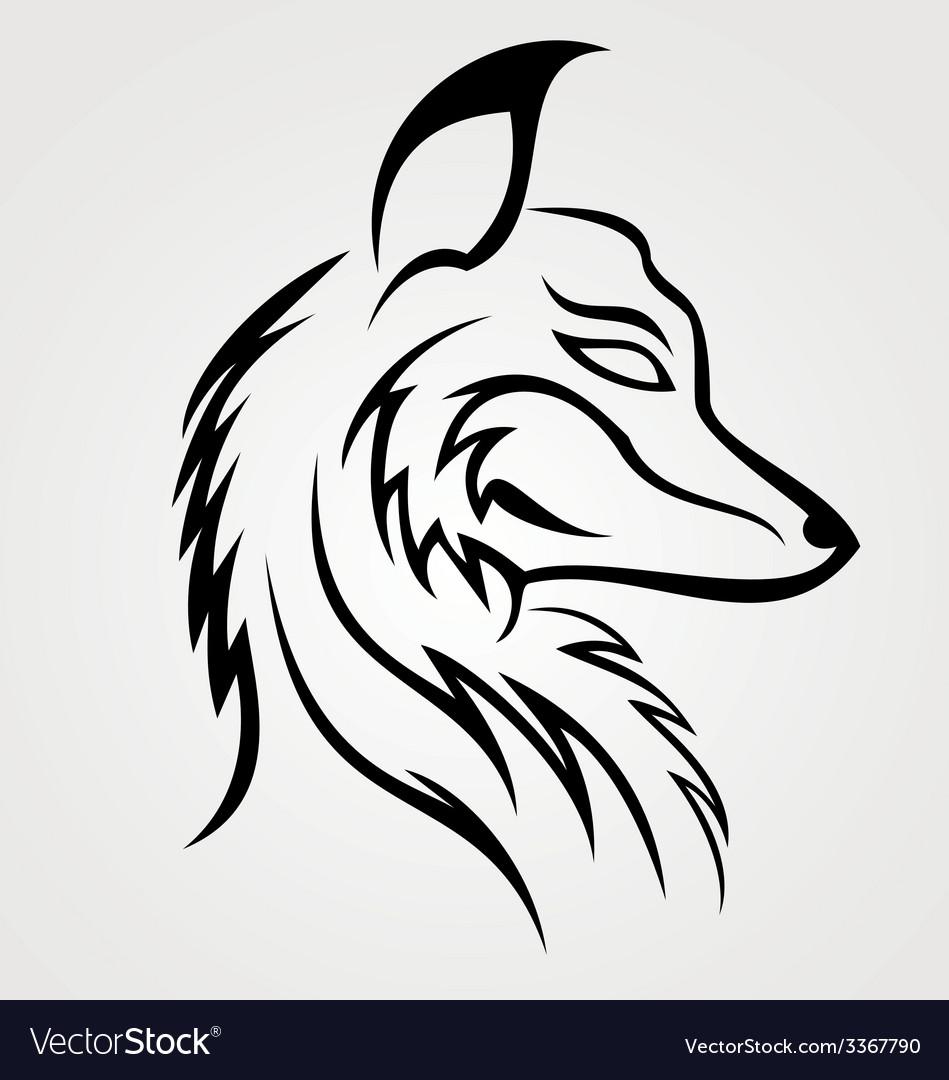 Fox head tattoo design vector | Price: 1 Credit (USD $1)