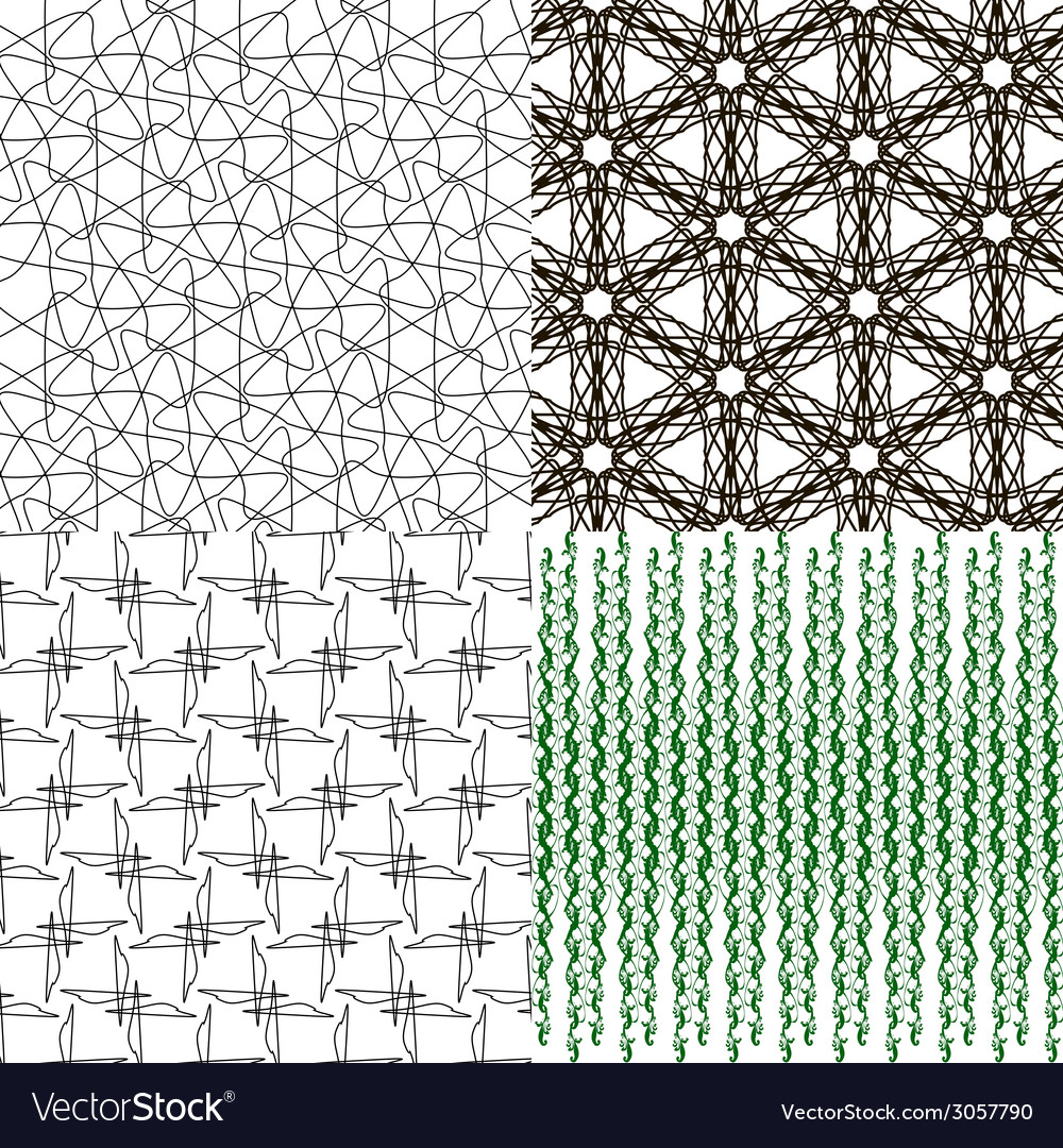 Geometric patterns tiling set of abstract vintage vector | Price: 1 Credit (USD $1)