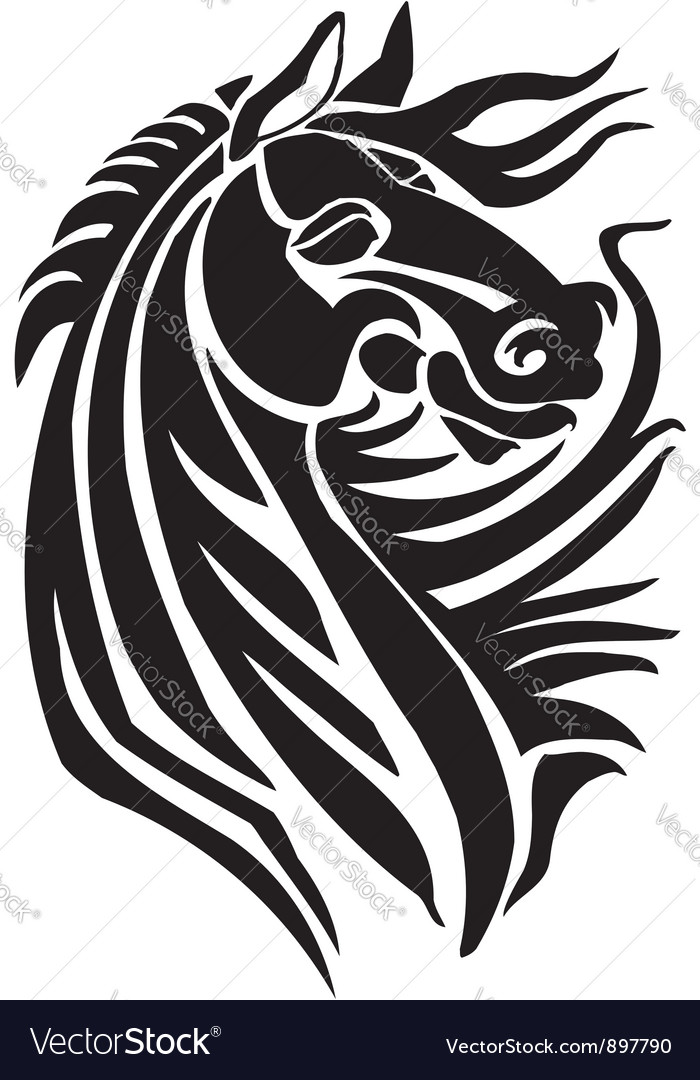Horse in tribal style - vector | Price: 1 Credit (USD $1)