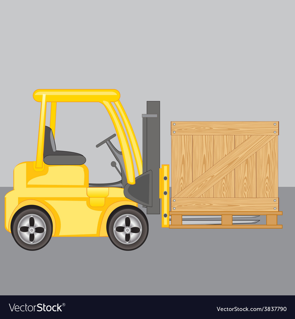 Machine for loading loads box vector | Price: 1 Credit (USD $1)