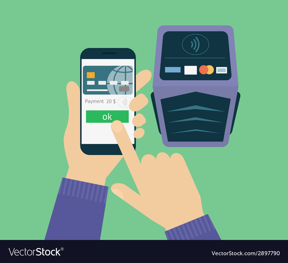 Mobile payment vector | Price: 1 Credit (USD $1)
