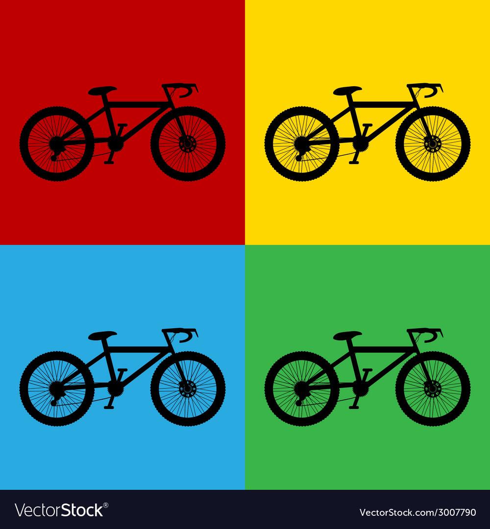 Pop art bike vector | Price: 1 Credit (USD $1)