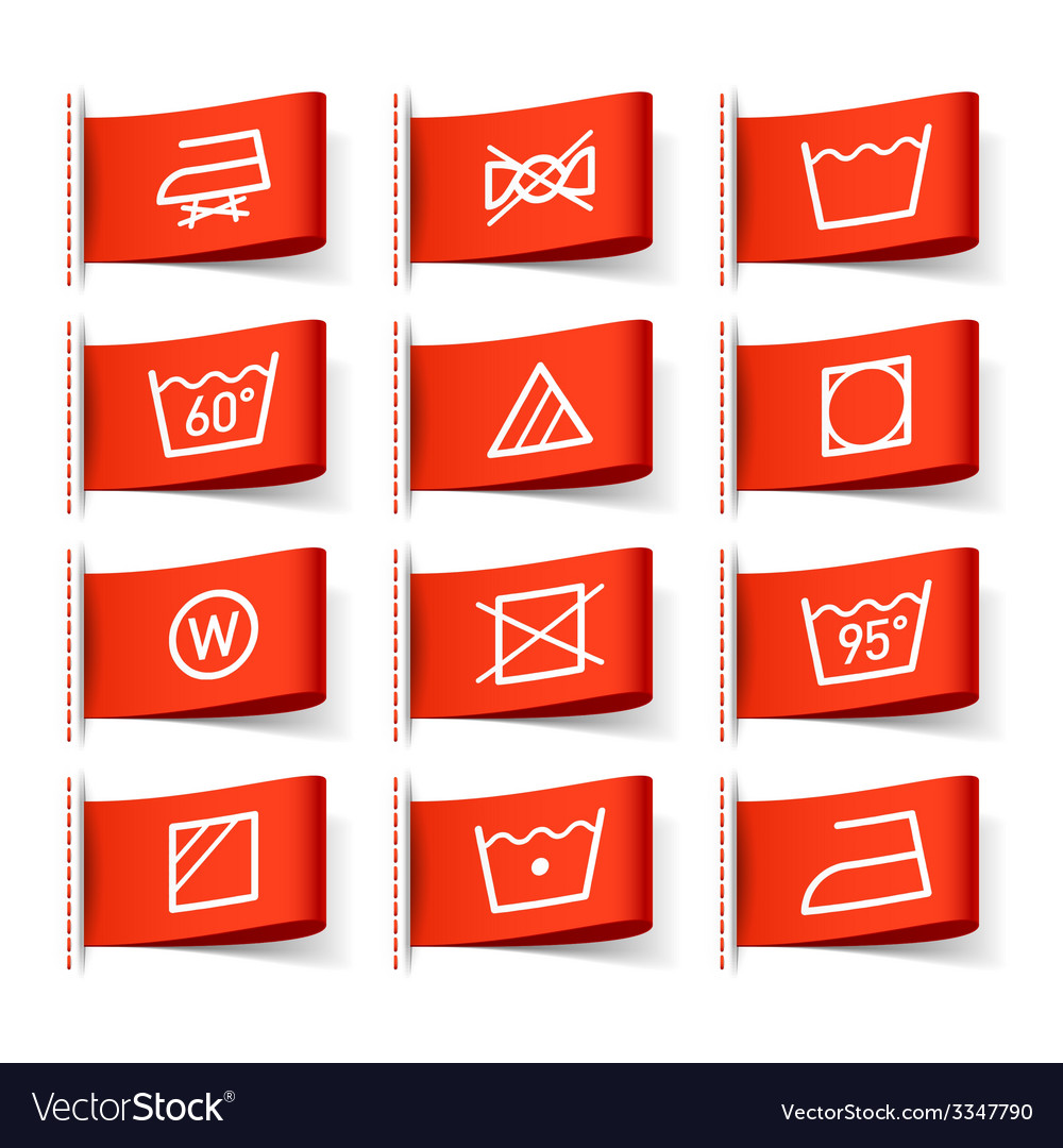 Washing symbols vector | Price: 1 Credit (USD $1)