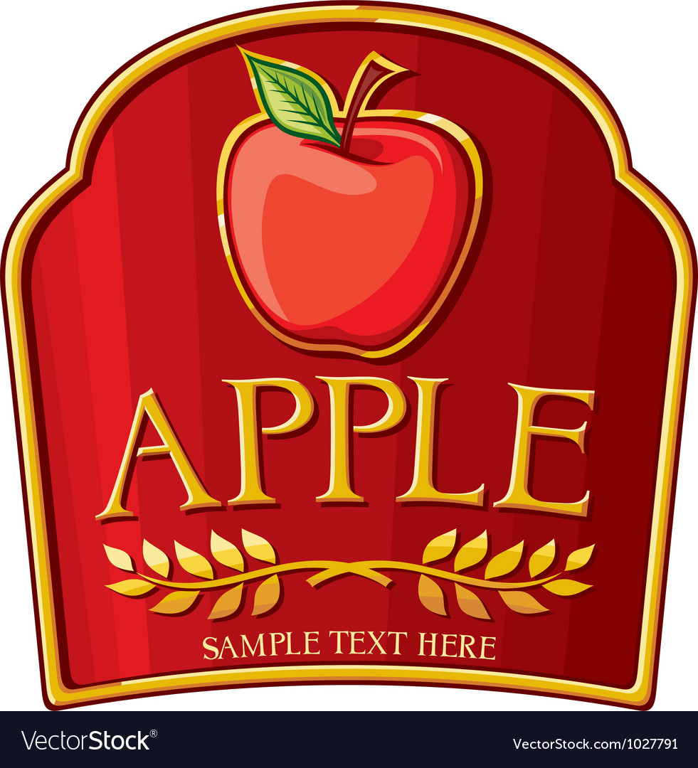 Apple label vector | Price: 1 Credit (USD $1)
