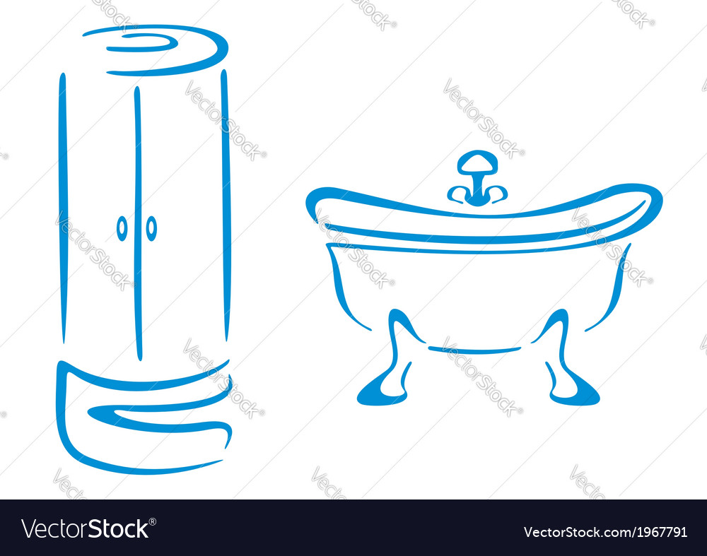 Bathroom symbols vector | Price: 1 Credit (USD $1)