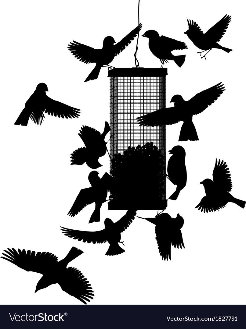 Bird feeder vector | Price: 1 Credit (USD $1)