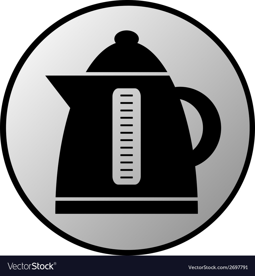 Electric kettle button vector | Price: 1 Credit (USD $1)