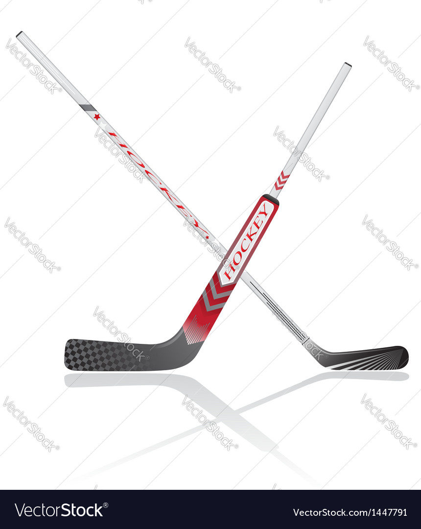 Hockey sticks vector | Price: 1 Credit (USD $1)