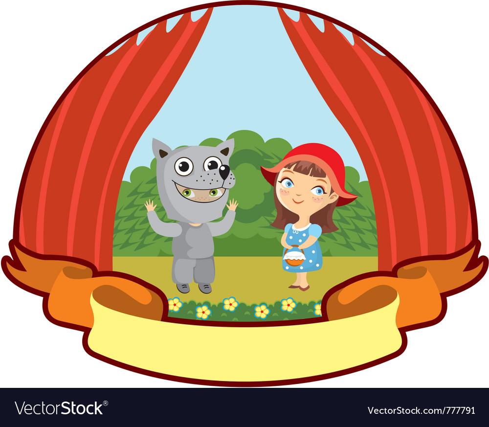 Little red riding hood children teatr vector | Price: 3 Credit (USD $3)