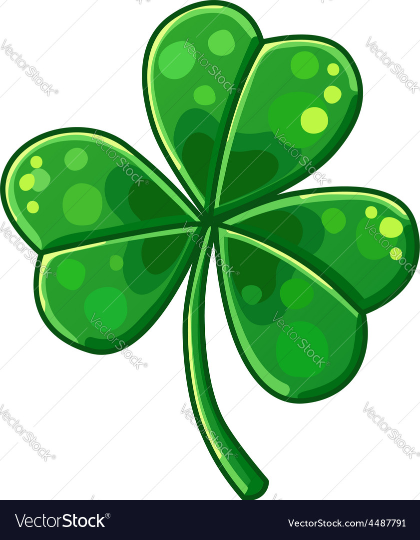 Lucky clover isolated on white background vector | Price: 3 Credit (USD $3)