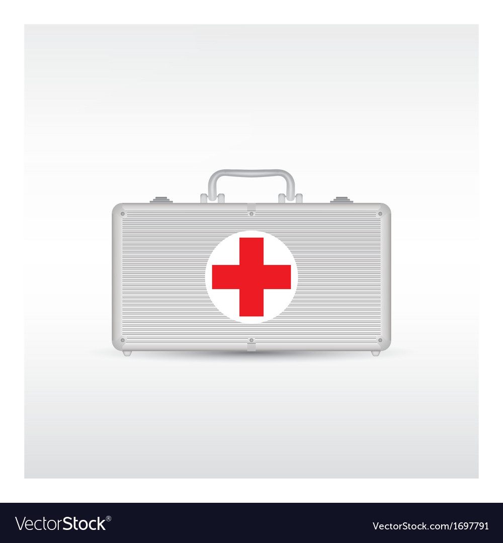 Red first aid kit vector | Price: 1 Credit (USD $1)