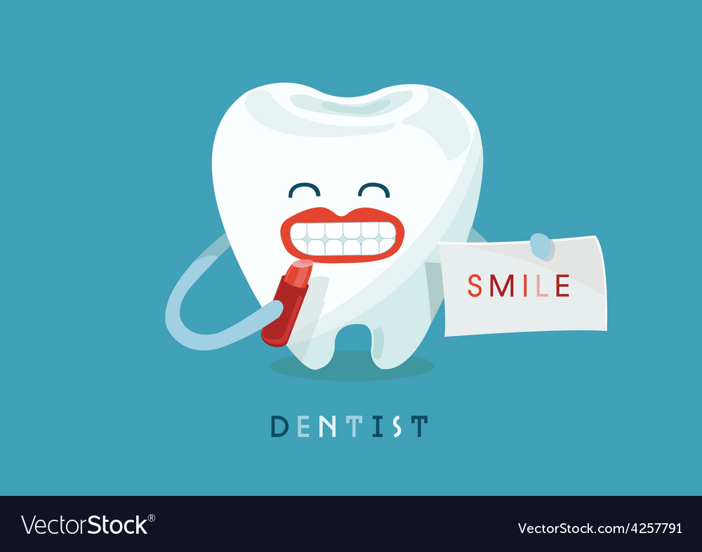 Smile tooth vector | Price: 3 Credit (USD $3)