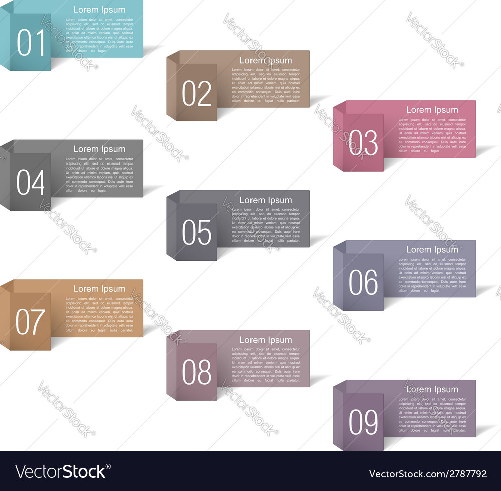 Banners with numbers design vector | Price: 1 Credit (USD $1)
