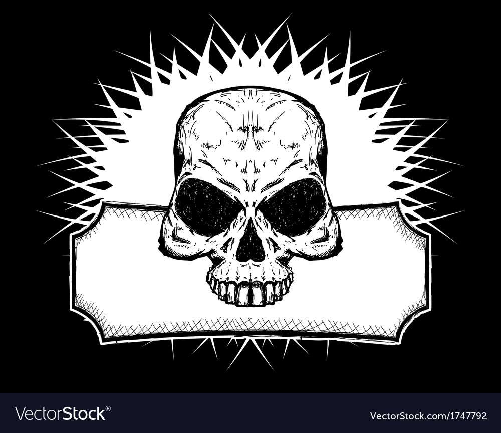 Drawn skull vector | Price: 1 Credit (USD $1)