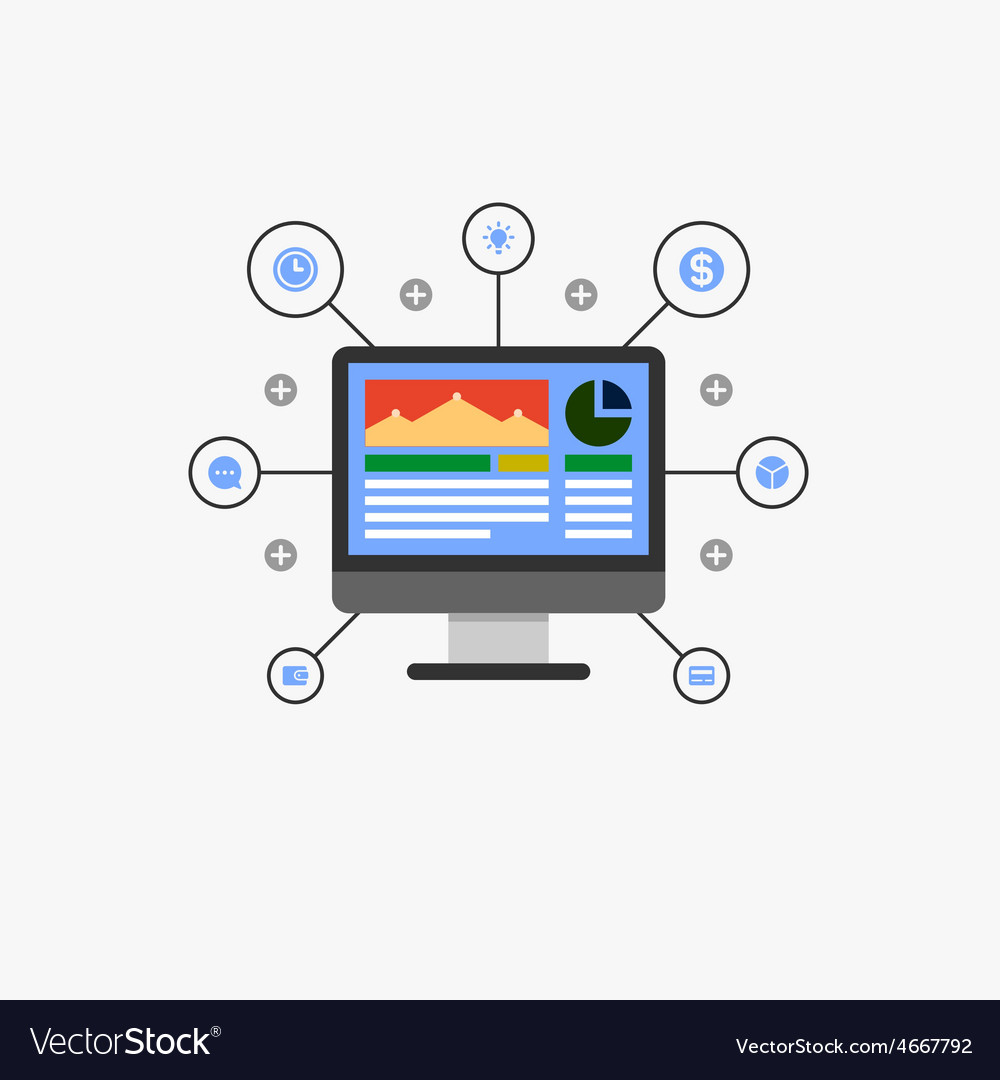 Internet marketing vector | Price: 1 Credit (USD $1)