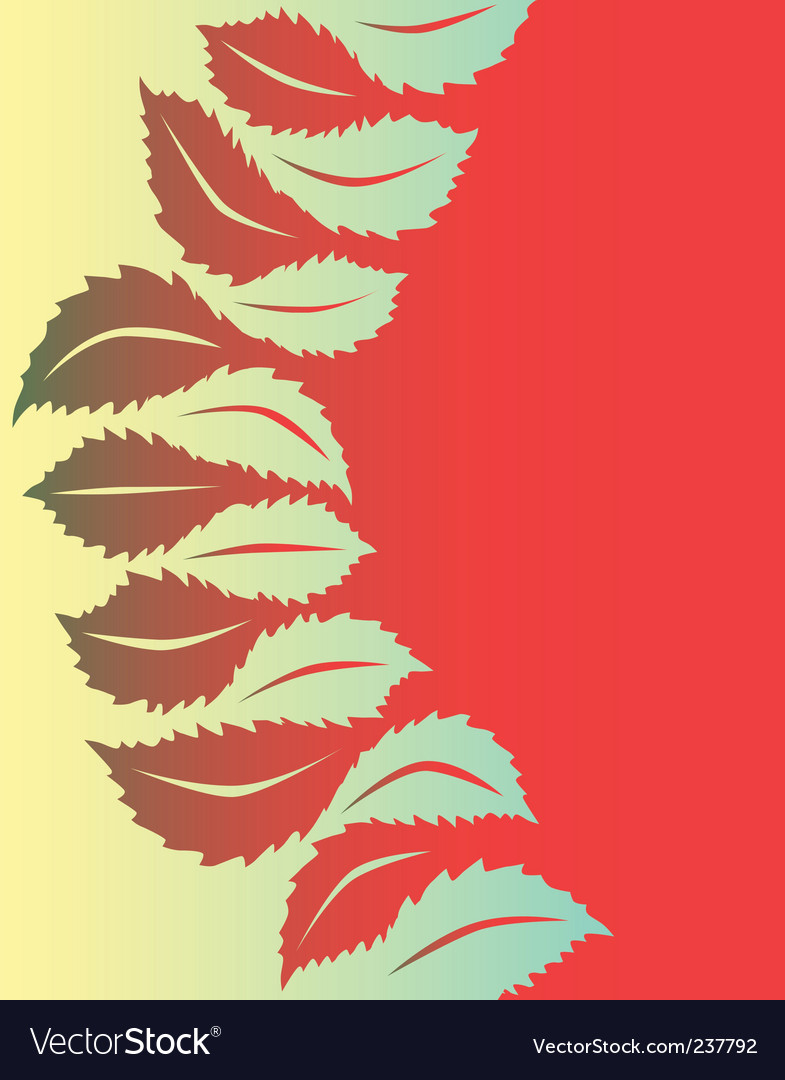 Leaf shapes vector | Price: 1 Credit (USD $1)