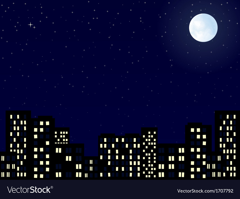Night sity vector | Price: 1 Credit (USD $1)