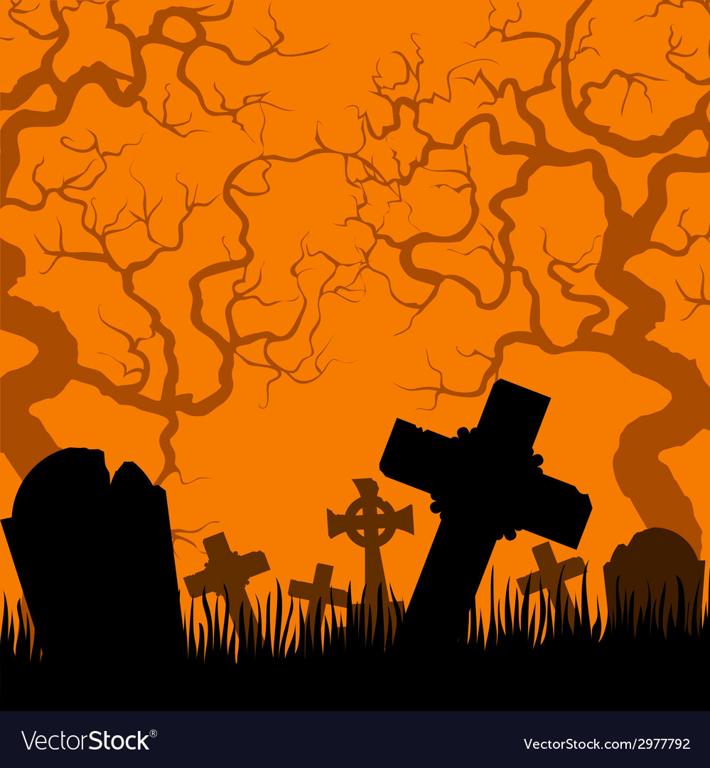Old cemetery vector | Price: 1 Credit (USD $1)
