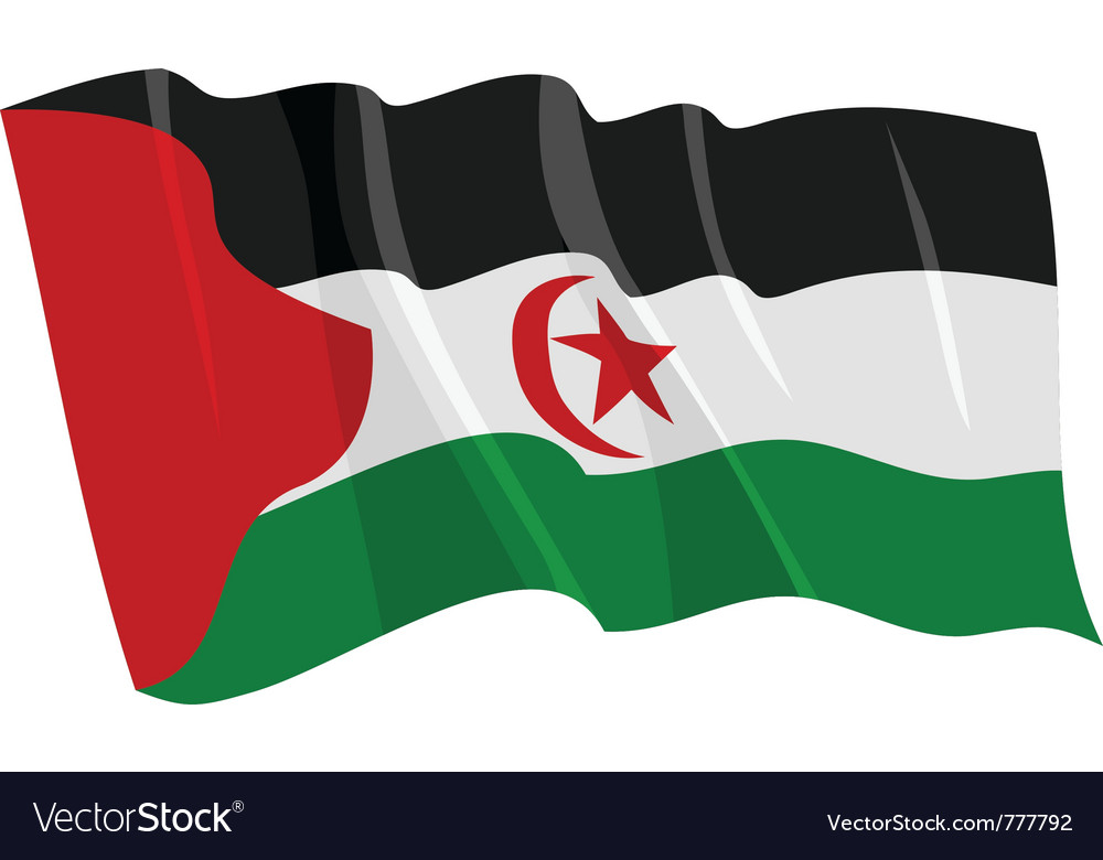 Political waving flag of western sahara vector | Price: 1 Credit (USD $1)