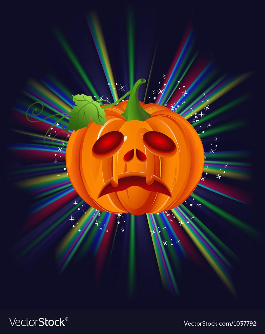 Pumpkin on halloween vector | Price: 1 Credit (USD $1)