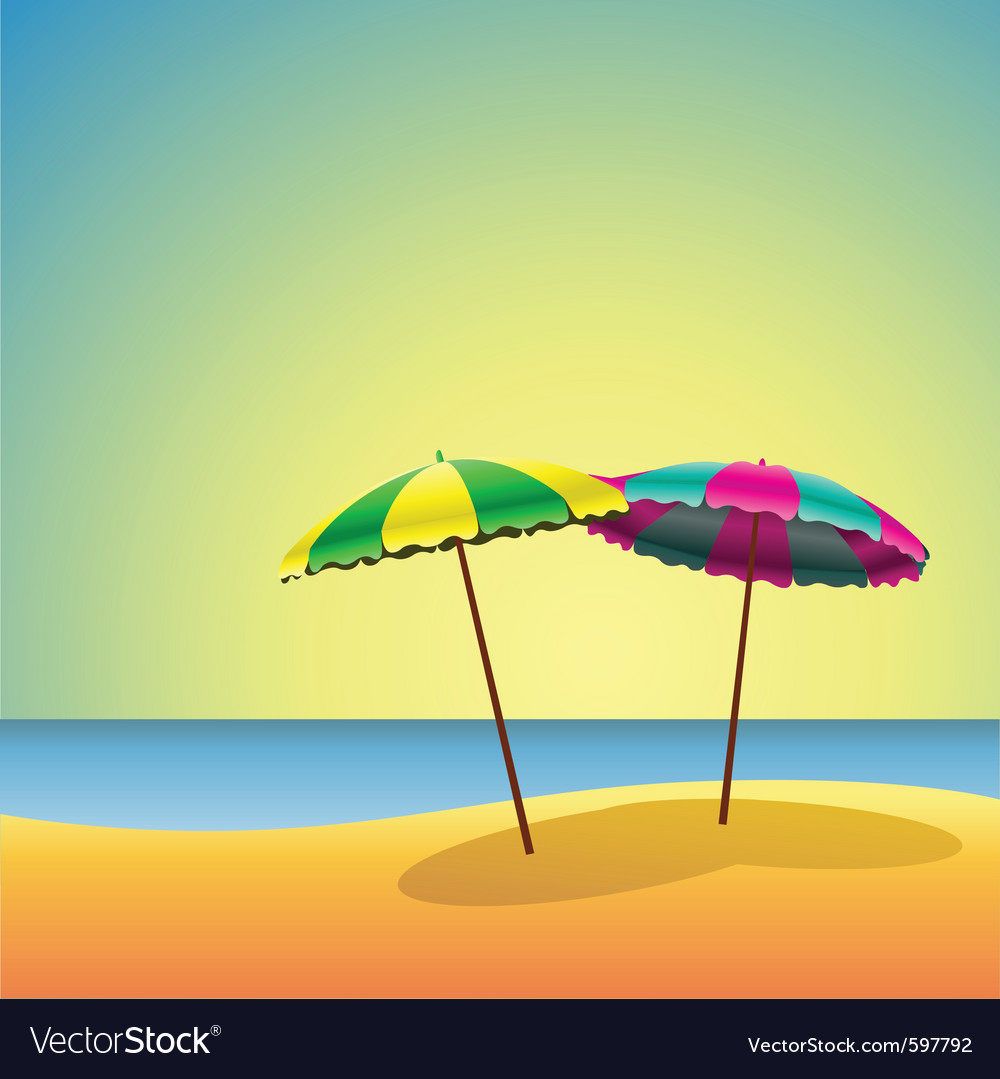 Sandy beaches vector | Price: 3 Credit (USD $3)