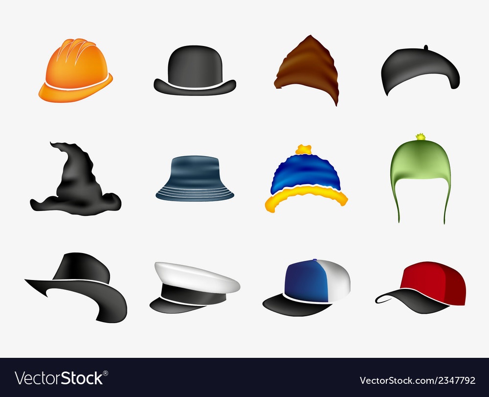 Set of hats vector | Price: 1 Credit (USD $1)