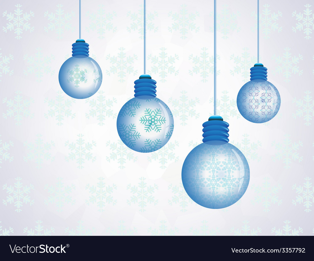 Snowflakes crystal bulb vector | Price: 1 Credit (USD $1)