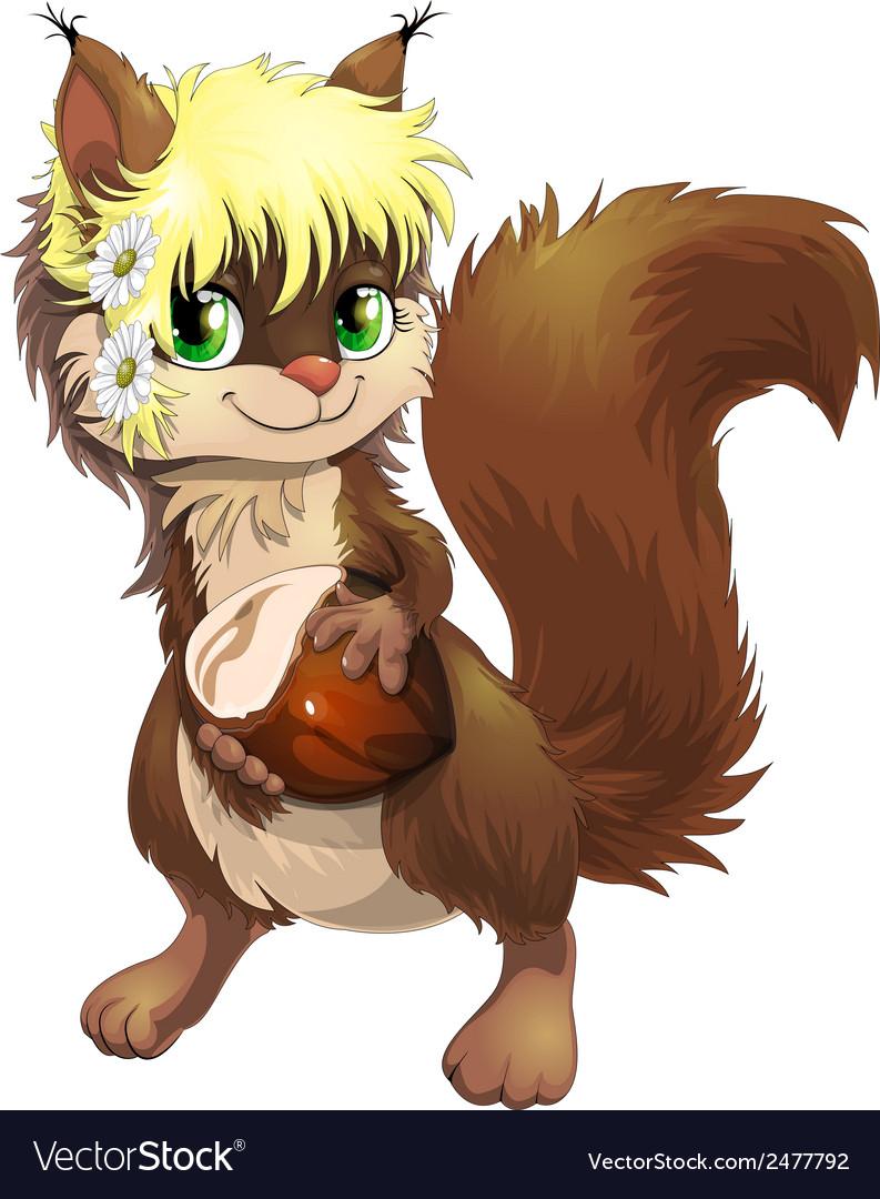 Squirrel and nutlets vector | Price: 3 Credit (USD $3)