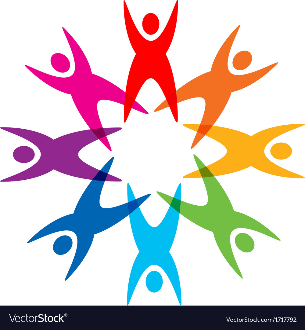 Star of colorful people pictogram vector | Price: 1 Credit (USD $1)