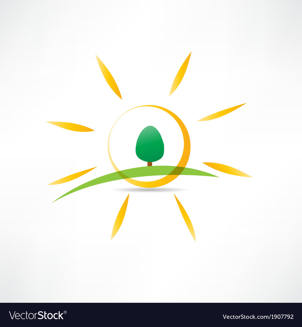 Sunny landscape icon vector | Price: 1 Credit (USD $1)