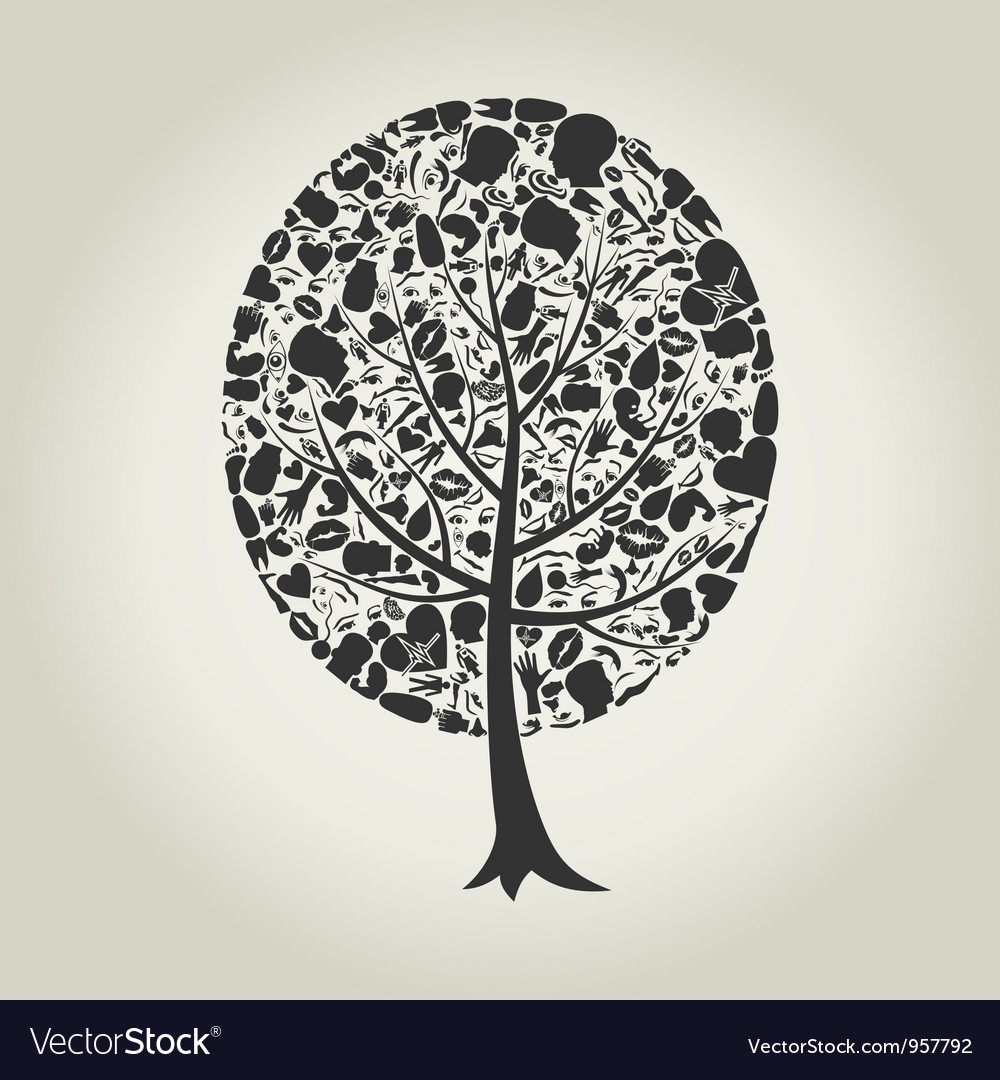 Tree of a part of a body vector | Price: 1 Credit (USD $1)