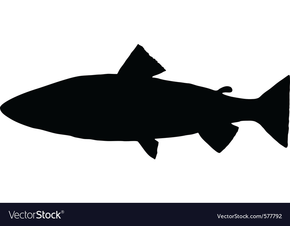 Trout silhouette vector | Price: 1 Credit (USD $1)
