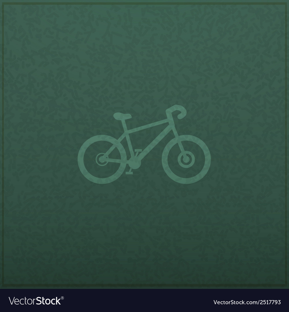 Bicycle empty realistic black board in format vector | Price: 1 Credit (USD $1)