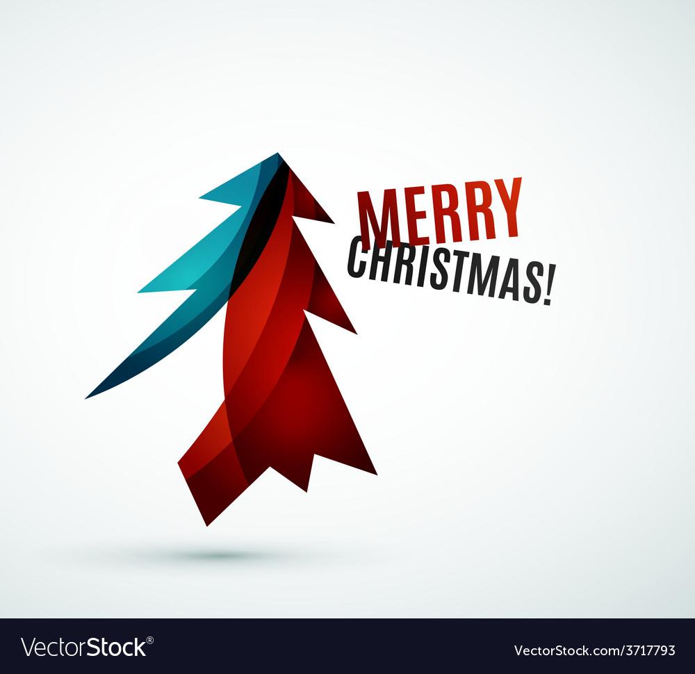 Christmas tree modern geometric design vector | Price: 1 Credit (USD $1)