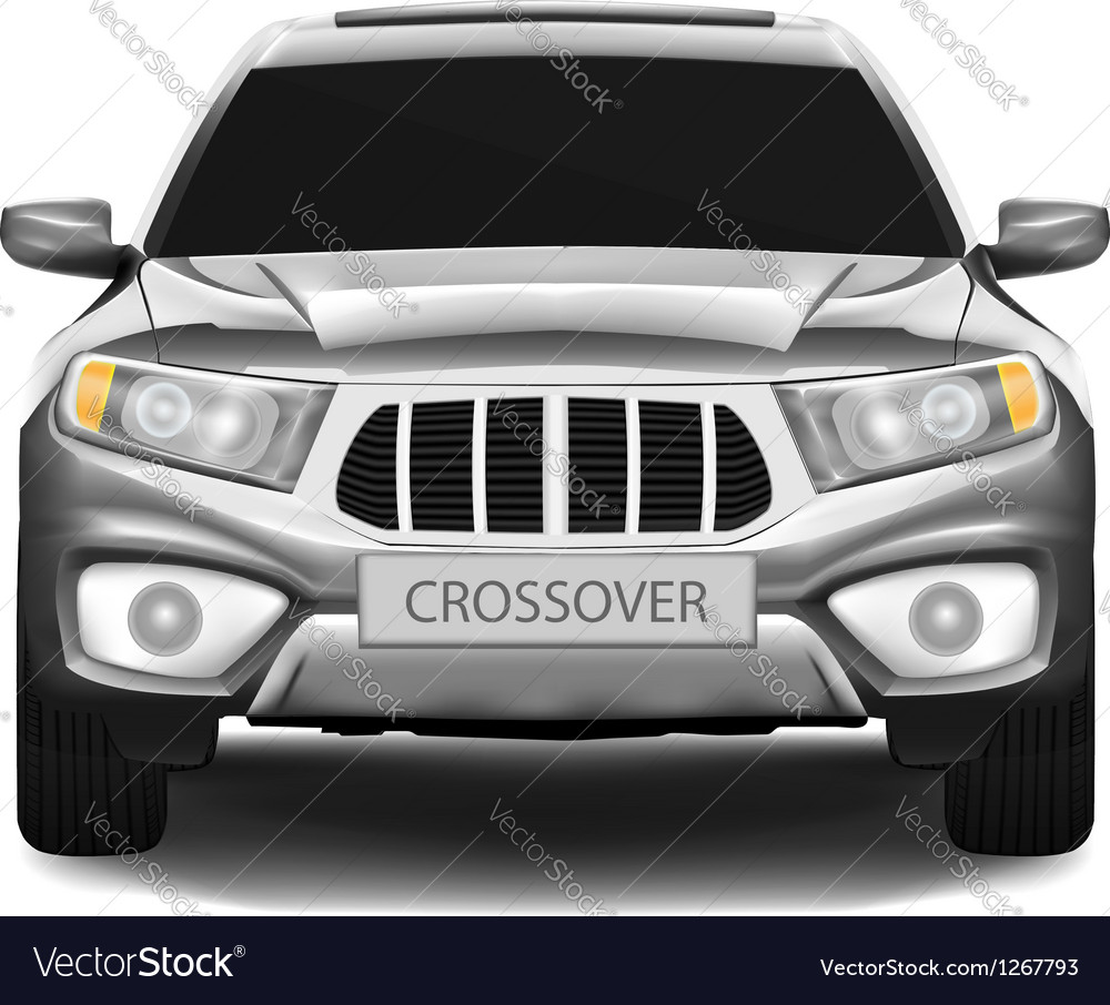 Crossover car isolated on white background vector | Price: 1 Credit (USD $1)