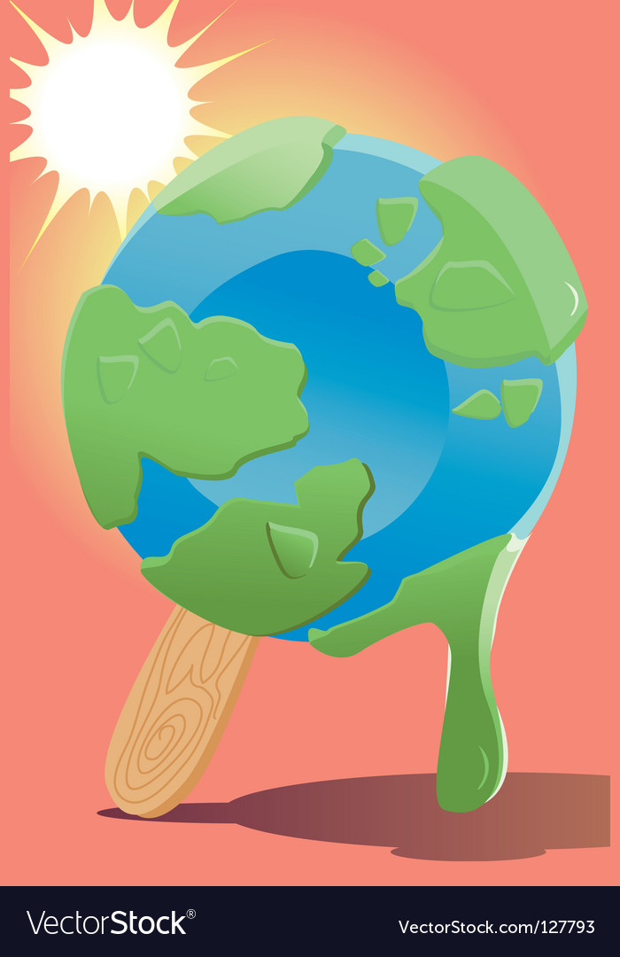 Melting world vector | Price: 1 Credit (USD $1)