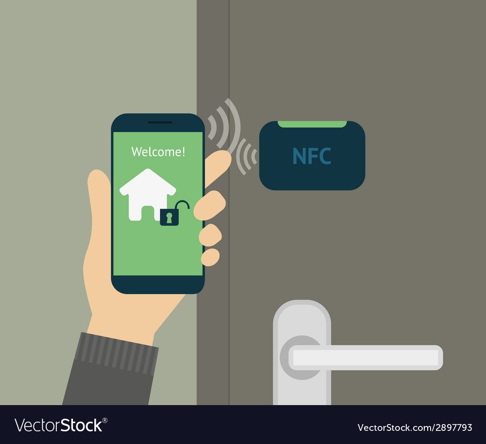 Mobile access to home vector | Price: 1 Credit (USD $1)