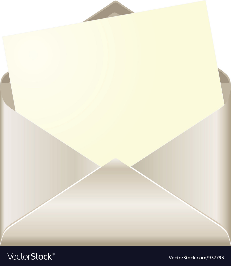 Open envelope with card vector | Price: 1 Credit (USD $1)